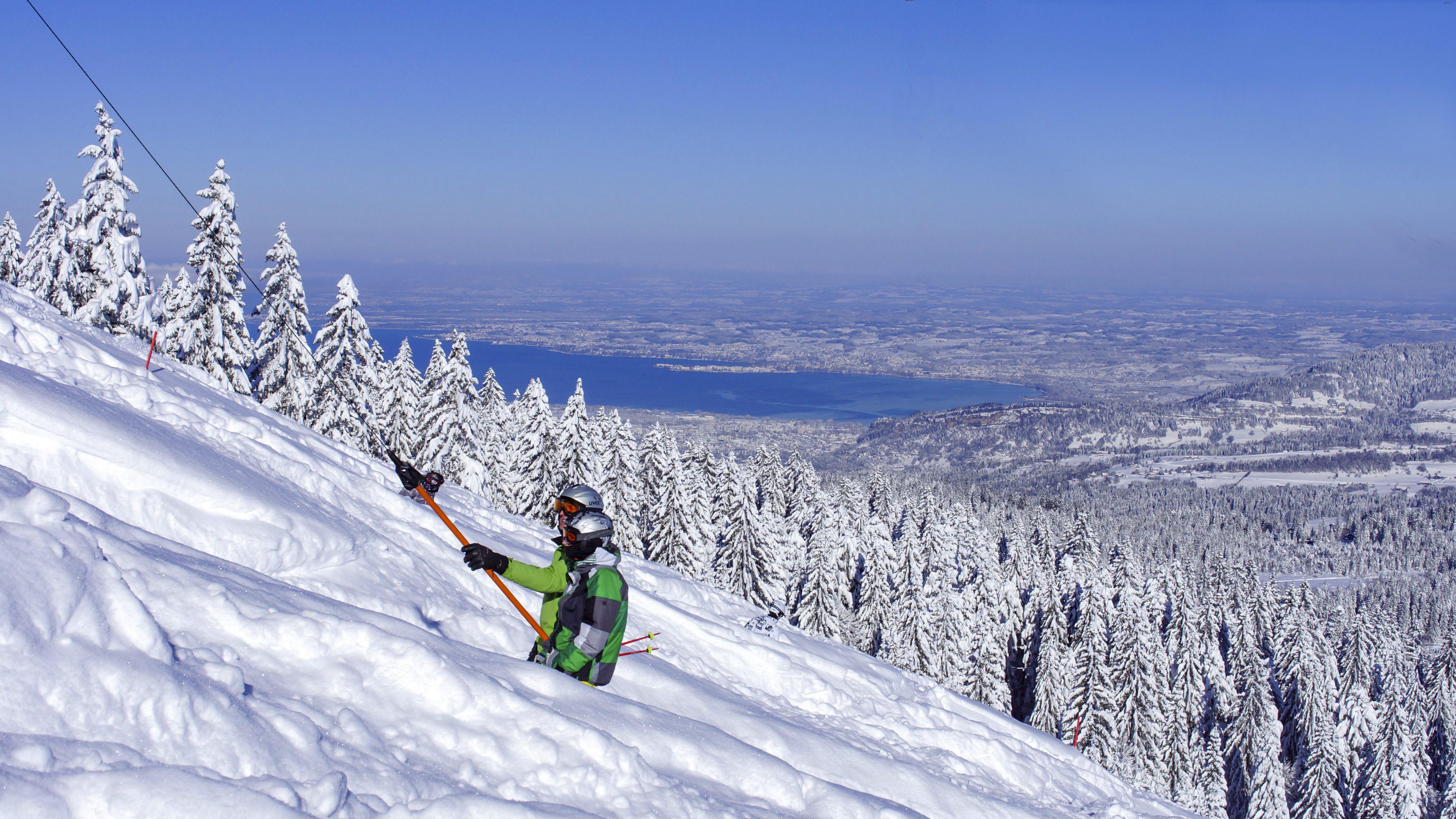 Skigebiet Bödele, Seeblicklift mit Blick zum Bodensee / Copyright© Alois Metzler